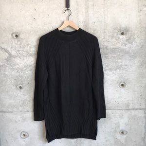 Topshop long black sweater